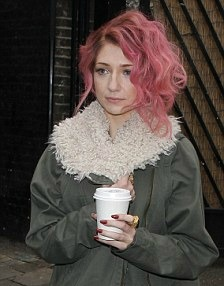 Black And Light Pink Ombre Hair